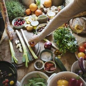 Vegetable preparation food photography recipe idea